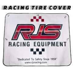 "RJS RACING CAR TIRE COVER PANEL - 44"" X 35"" BANNER"