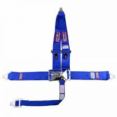 "RJS SFI 16.1 L&L HARNESS 3"" PULL DOWN LAP BELT 3"" SHOULDER HARNESS ""V"" ROLL BAR MOUNT 2"" SINGLE SUB ALL BOLT ENDS BLUE"