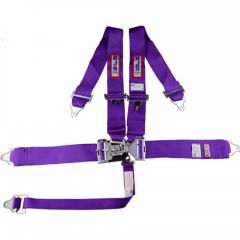 "RJS SFI 16.1 L&L HARNESS 3"" PULL DOWN LAP BELT BOLT  3"" SHOULDER HARNESS INDIVIDUAL ROLL BAR MOUNT WRAP/BOLT  2"" SINGLE SUB WRAP/BOLT PURPLE"
