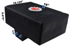 RDN3003401 RACERDIRECT.NET 12 GALLON RACING FUEL CELL WITH SUMP AND AN AIRCRAFT CAP