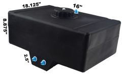 RDN3002801 RACERDIRECT.NET 12 GALLON RACING FUEL CELL WITH SUMP AND PLASTIC TWIST OFF CAP