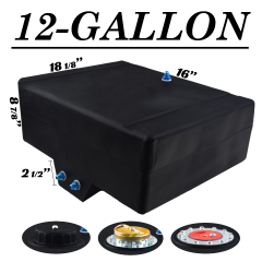 12 GALLON FUEL CELL W/SUMP - BOTTOM FEED
