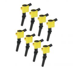ACCEL IGNITION COIL 140032-8 - SUPERCOIL - 1998-2008 FORD 4.6L/5.4L/6.8L 2-VALVE MODULAR ENGINES - YELLOW - 8-PACK