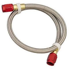 NOS Stainless Steel Braided Hose - 4AN to 3AN, 1ft, Red, 15341NOS