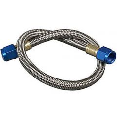 NOS Stainless Steel Braided Hose - 4AN, 2ft, Blue, 15230NOS