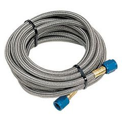 NOS Stainless Steel Braided Hose - 6AN, 4ft, Blue, 15420NOS
