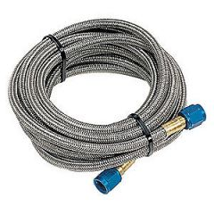 NOS Stainless Steel Braided Hose - 4AN, 16ft, Blue, 15300NOS