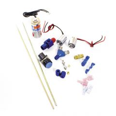 NOS Ntimidator Illuminated Dual BLUE LED Nitrous Purge Kit w/-4AN Feed Line, 16037NOS