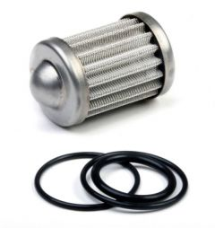 HLY 162-557 HOLLEY FUEL FILTER ELEMENT AND O-RING KIT FITS 100 GPH BILLET FUEL FILTERS 100 MICRON