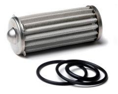 HLY 162-569 HOLLEY FUEL FILTER ELEMENT AND O-RING KIT FITS 260 GPH HP BILLET FUEL FILTERS 100 MICRON