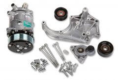 HOLLEY LS A/C ACCESSORY DRIVE KIT - INCLUDES SD508 A/C COMPRESSOR, TENSIONER, AND PULLEYS, HLY 20-141