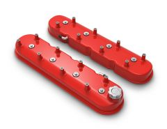 HOLLEY ALUMINUM TALL GM LS ENGINES TALL VALVE COVERS - GLOSS RED HLY 241-113