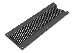 HOLLEY GM LS1/LS6 FINNED VALLEY COVER - SATIN BLACK FINISH, HLY 241-258