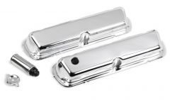 HOLLEY CHROME VALVE COVERS 1986-95 302-351W 5.0L-5.8L SMALL BLOCK FORD ENGINES HLY 241-81
