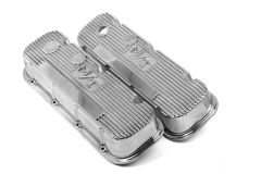 HOLLEY M/T LOGO VALVE COVERS FOR CHEVY BIG BLOCK ENGINES POLISHED HLY 241-84