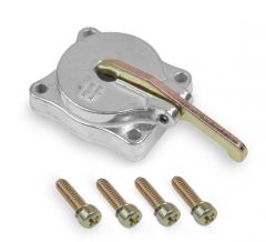 HLY-26-140SA HOLLEY  50CC SHINY ALUMINUM ACCELERATOR PUMP COVER WITH GOLD HARDWARE