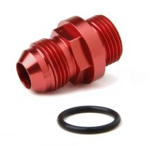 HLY 26-143-2 HOLLEY  SHORT -8AN MALE FUEL INLET FITTING -RED WITH -8AN O-RING THREADS FOR 4150 ULTRA XP FUEL BOWLS.