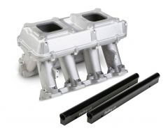 HLY 300-115 HOLLEY EFI HI-RAM INTAKE 2 X 4150 -2 X 1000CFM SIDEWAYS OR INLINE MOUNTING