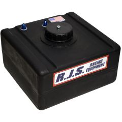 RJS 8 GALLON ECONOMY FUEL CELL RAISED PLASTIC CAP NO CAN BLACK RJS3006301