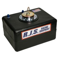 RJS 8 GALLON ECONOMY FUEL CELL METAL D RING VENTED CAP NO CAN BLACK  RJS3006501