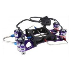 NITROUS PRO FLOW TWO STAGE CROSSBAR PLATE SYSTEM - 4150 WITH BURST