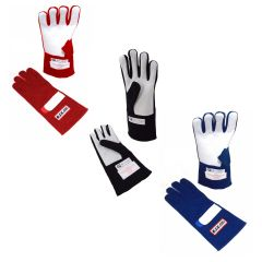 RJS RACING SFI 3.3/5 DOUBLE LAYER NOMEX FIRE RETARDANT RACING GLOVES XXS TO 2XL