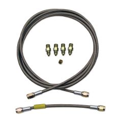"BRAKE LINE KIT, 96"" SINGLE AN3 BRAIDED STAINLESS W/ JUMPER"