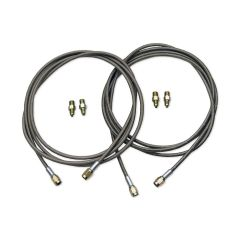 "BRAKE LINE KIT, 96"" DOUBLE AN3 BRAIDED STAINLESS"