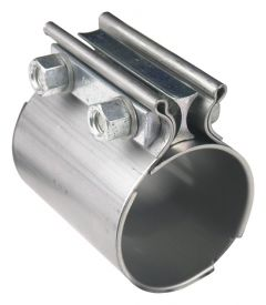 "HOOKER EXHAUST COUPLER/CLAMP STAINLESS STEEL ""TORCA"" STYLE 2-1/2"" EXHAUST COUPLER - 2PK, 41172HKR"