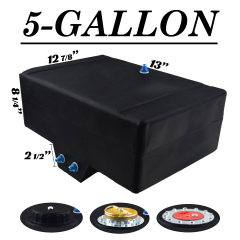 5 GALLON FUEL CELL W/SUMP - BOTTOM FEED