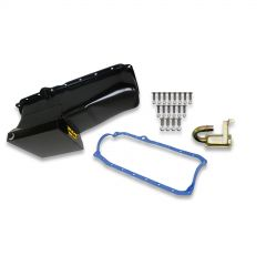 WND-5002WND WEIAND OIL PAN KIT 7QT- BLACK PAINTED FINISH - 1986/2002 SMALL BLOCK CHEVY -DRAG RACING