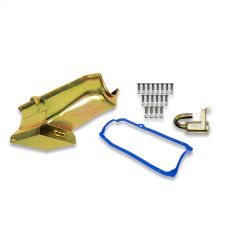 Weiand Oil Pan Kit 7QT- Gold Zinc Finish - 1980/1985 Small Block Chevy -Drag Racing