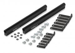 HLY-534-220 HOLLEY EFI FUEL RAIL KIT FOR HOLLEY LS EFI MANIFOLD - 2X4 MID-RISE DUAL PLANE STYLE FOR ALL GM LS GEN III OR GEN IV ENGINES EQUIPPED WITH LS3/L92 STYLE RECTANGULAR PORT CYLINDER HEADS.