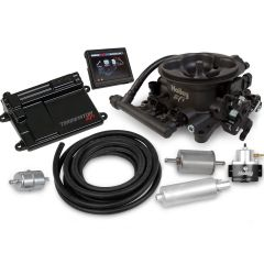 HOLLEY EFI TERMINATOR EFI 4BBL THROTTLE BODY FUEL INJECTION MASTER KIT - HARD CORE GRAY, HLY 550-406K