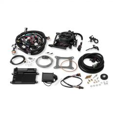 "HLY 550-410 HOLLEY EFI GM LS1/LS6 ENGINES AND 1999-2007 4.8/5.3/6.0 TRUCK ENGINES WITH 24X CRANK RELUCTOR AND CARBURETED INTAKE MANIFOLD NO LAPTOP REQUIRED 3.5"" TOUCHSCREEN INCLUDED"