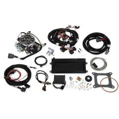 HOLLEY EFI TERMINATOR LS TBI KIT - POLISHED W/ TRANSMISSION CONTROL, HLY 550-421