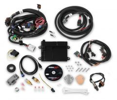 HOLLEY EFI HP EFI ECU & HARNESS KITS - UNIVERSAL FORD V8 MULTI-POINT FUEL INJECTION, INCLUDES BOSCH OXYGEN SENSOR, AND FORD V8 INJECTOR HARNESS