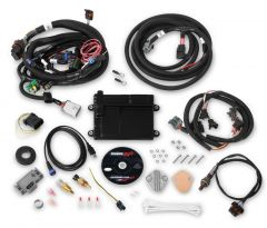 HOLLEY EFI HP EFI ECU & HARNESS KITS - UNIVERSAL FORD V8 MULTI-POINT FUEL INJECTION, INCLUDES NTK OXYGEN SENSOR, AND FORD V8 INJECTOR HARNESS