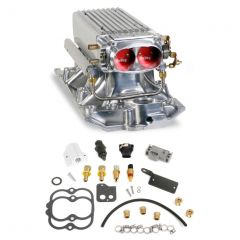 HLY 550-710 HOLLEY EFI SMALL BLOCK CHEVY POLISHED STEALTH RAM MULTI-PORT POWER PACK KIT FOR EARLY/LATE HEADS