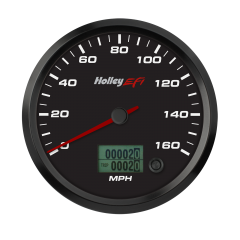 "HOLLEY EFI CAN SPEEDOMETER - 4-1/2"" SIZE, BLACK, HLY 553-120"