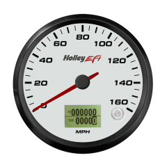 "HOLLEY EFI CAN SPEEDOMETER - 3-3/8"" SIZE, WHITE, HLY 553-122W"