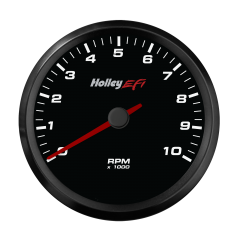 "HOLLEY EFI CAN TACHOMETER - 3-3/8"" SIZE, BLACK, HLY 553-124"