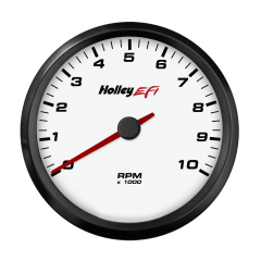 "HOLLEY EFI CAN TACHOMETER - 3-3/8"" SIZE, WHITE, HLY 553-124W"