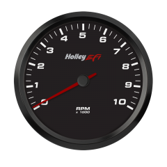 "HOLLEY EFI CAN TACHOMETER - 4-1/2"" SIZE, BLACK, HLY 553-125"