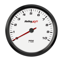 "HOLLEY EFI CAN TACHOMETER - 4-1/2"" SIZE, WHITE, HLY 553-125W"