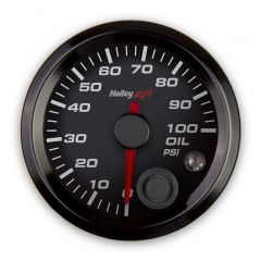 "HOLLEY EFI OIL PRESSURE GAUGE - 2-1/16"" SIZE, BLACK, HLY 553-127"