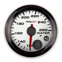 "HOLLEY EFI COOLANT TEMP GAUGE - 2-1/16"" SIZE, WHITE, HLY 553-128W"