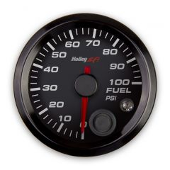 "HOLLEY EFI FUEL PRESSURE GAUGE - 2-1/16"" SIZE, BLACK, HLY 553-129"