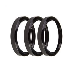 """HOLLEY REPLACEMENT BEZELS - 2-1/16"""" BEZELS, BLACK, PACK OF 3, HLY 553-145BK"""