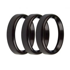 """HOLLEY REPLACEMENT BEZELS - 2-1/16"""" BEZELS, BOLD STYLE, BLACK, PACK OF 3, HLY 553-145BKB"""
